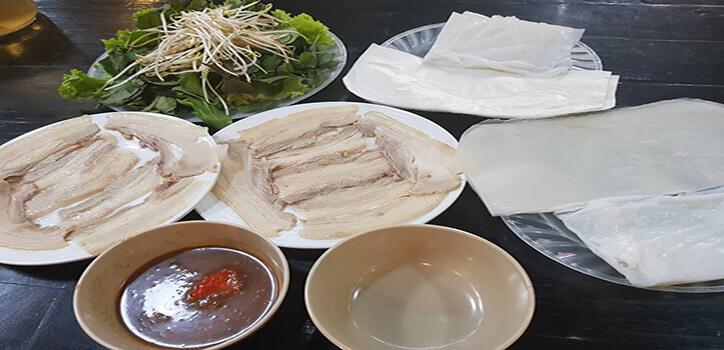 quánbánh tráng cuốn thịt heo ngon ở Đà Nẵng