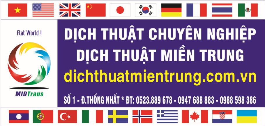 Công ty dịch thuật miền Trung MIDTRANS - Chi nhánh Đà Nẵng