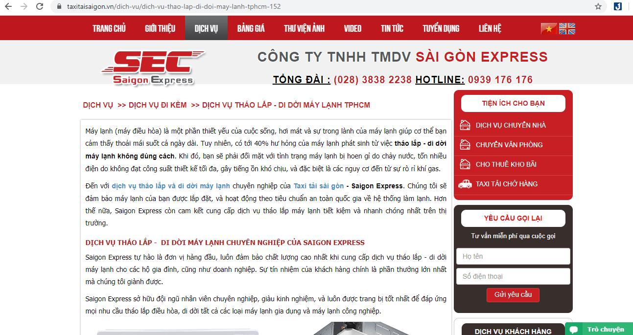 Dịch Vụ Lắp Máy Lạnh TP HCM