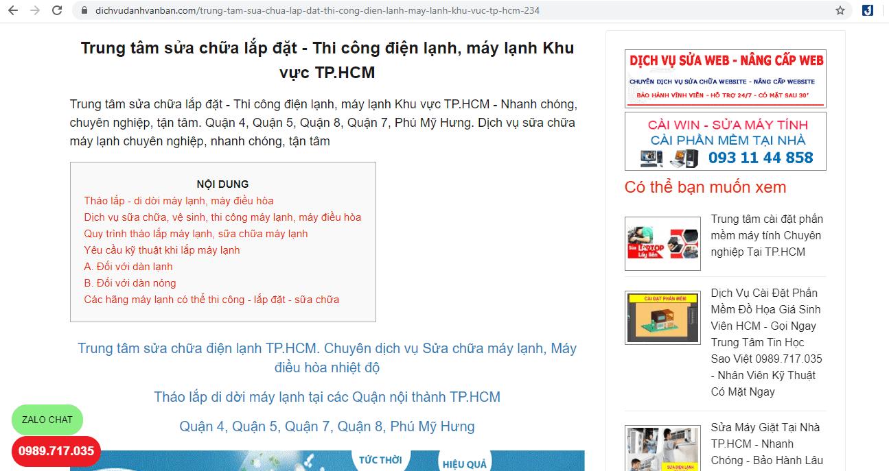 lắp máy lạnh TP Sài Gòn