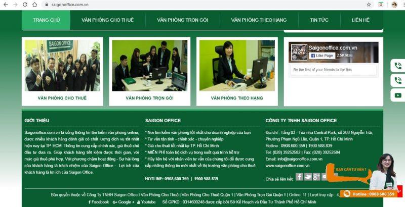 dịch vụ co-working văn phòng ảo Tp. Sài Gòn