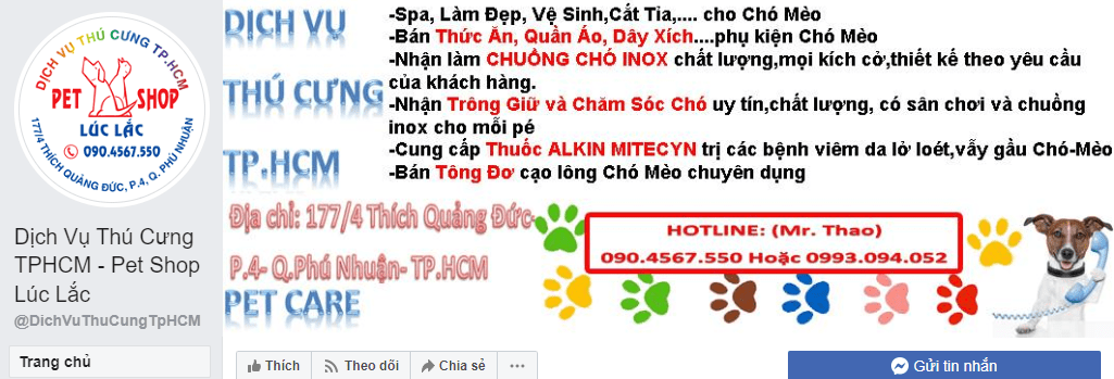 dịch vụ chăm sóc thú cưng Sài Gòn