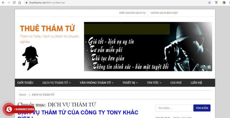 dịch vụ thuê thám tử TP. Sài Gòn