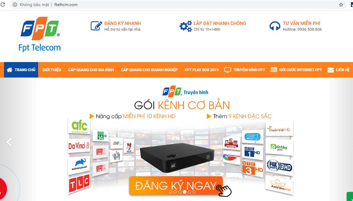 dịch vụ lắp mạng FPT Sài Gòn