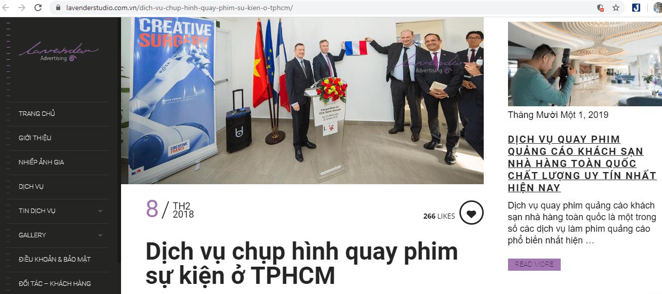 Dịch Vụ Quay Phim Uy Tín Sài Gòn