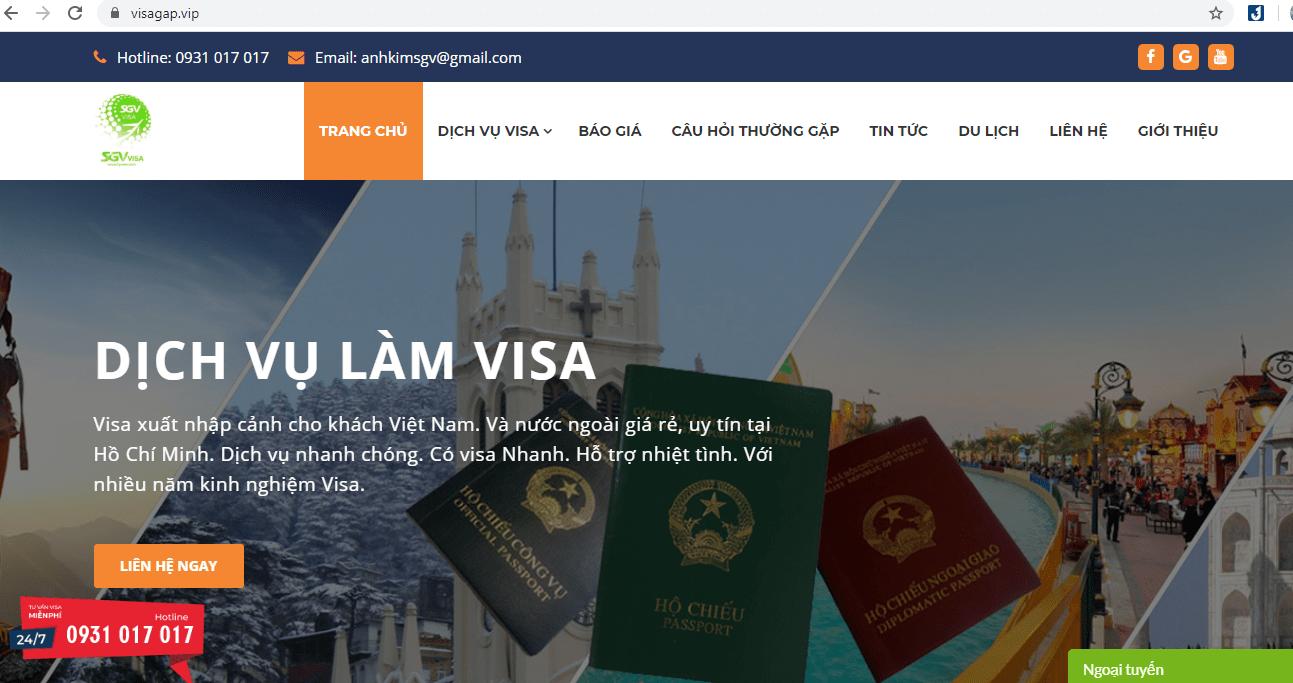 Dịch Vụ Làm Visa Nhanh Chóng Sài Gòn