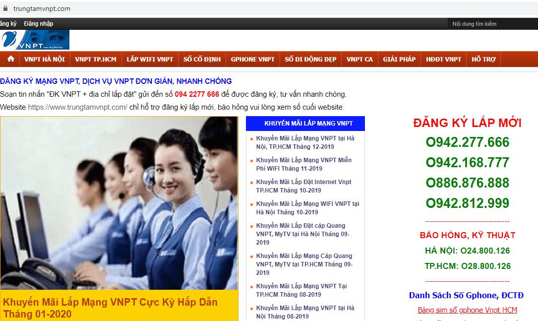 dịch vụ lắp mạng VNPT Sài Gòn