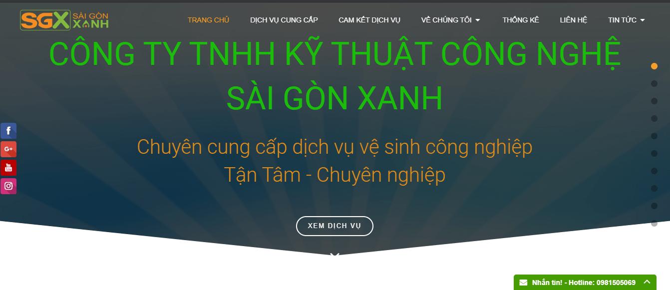 dịch vụ lau kính Sài Gòn