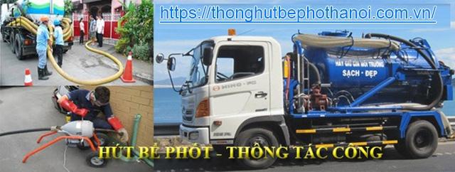 dịch vụ hút hầm cầu tại Hà Nội