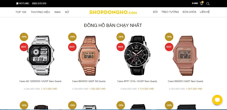cửa hàng đồng hồ sài gòn