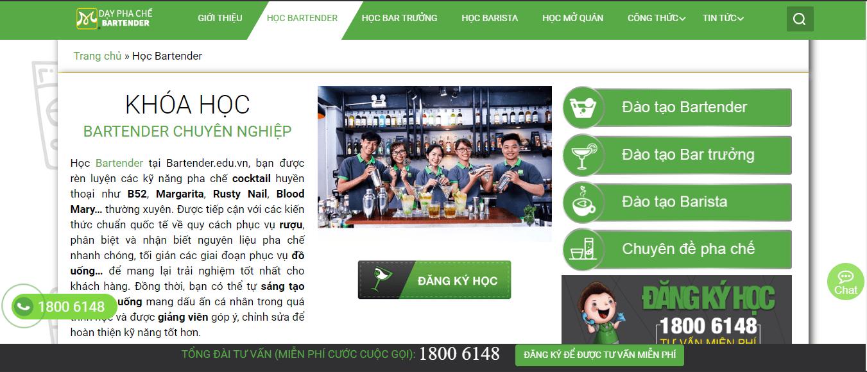 học bartender tại SG