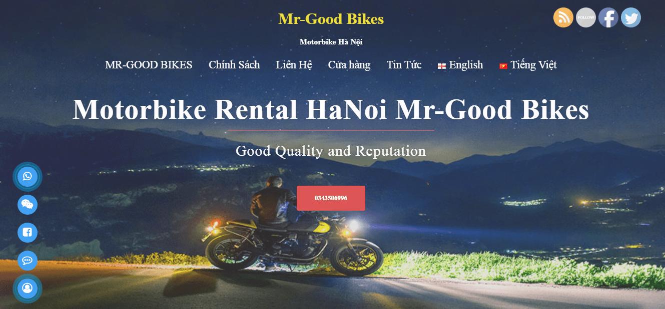 dịch vụ thuê xe máy tại Hà Nội