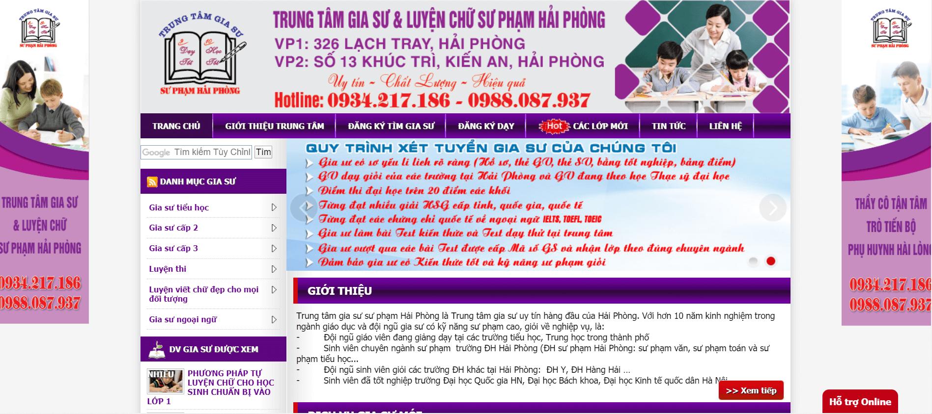 Trung Tâm Gia Sư & Luyện Chữ Sư Phạm Hải Phòng