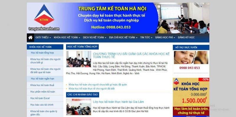 Trung tâm đào tạo kế toán Hà Nội chi nhánh Hải Phòng