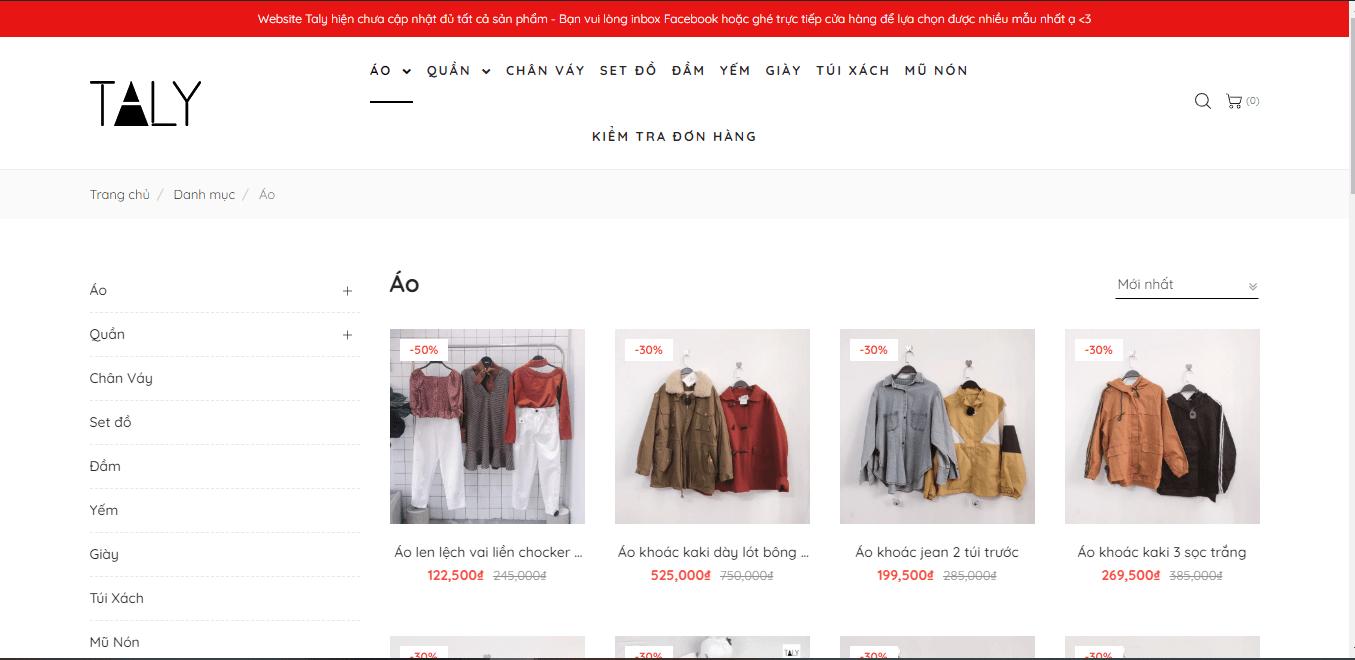 shop quần áo nữ Sài Gòn