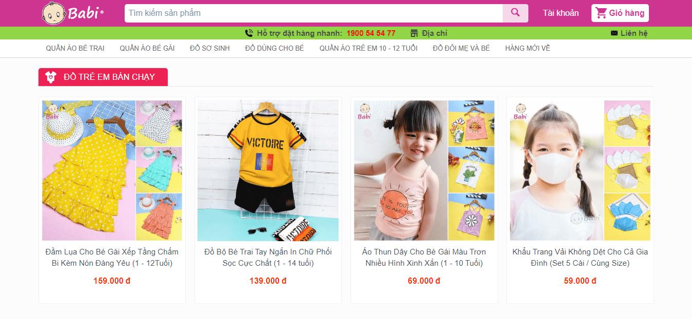 shop quần áo trẻ em sài gòn
