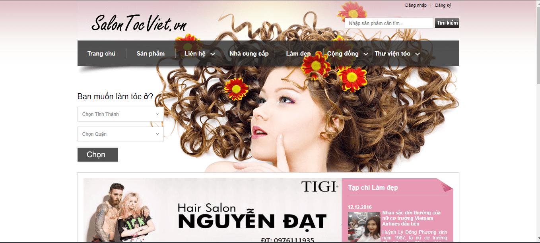 tiệm làm tóc nổi tiếng TP HCM