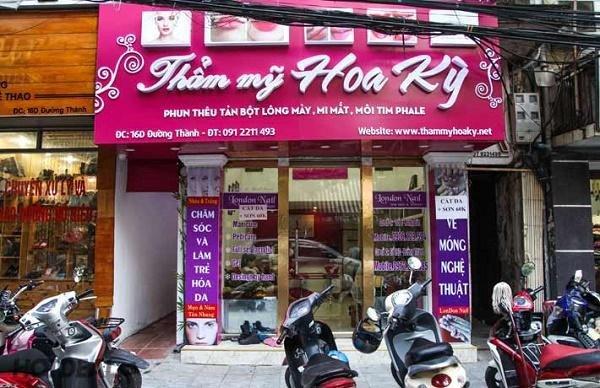 cơ sở làm đẹp và thẩm mỹ tại Hà Nội