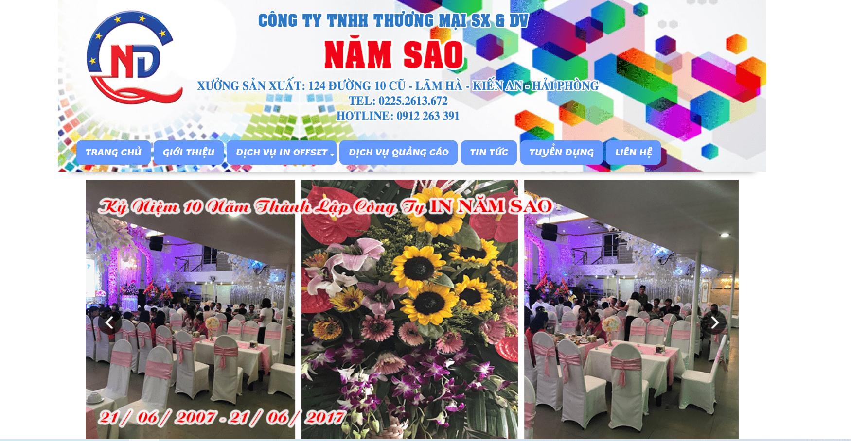 Công Ty TNHH Thương Mại SX & DV NĂM SAO