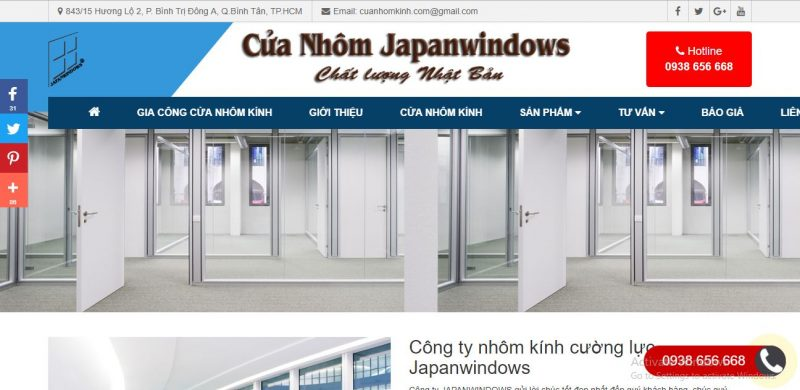 Cửa Nhôm Kính Japanwindows
