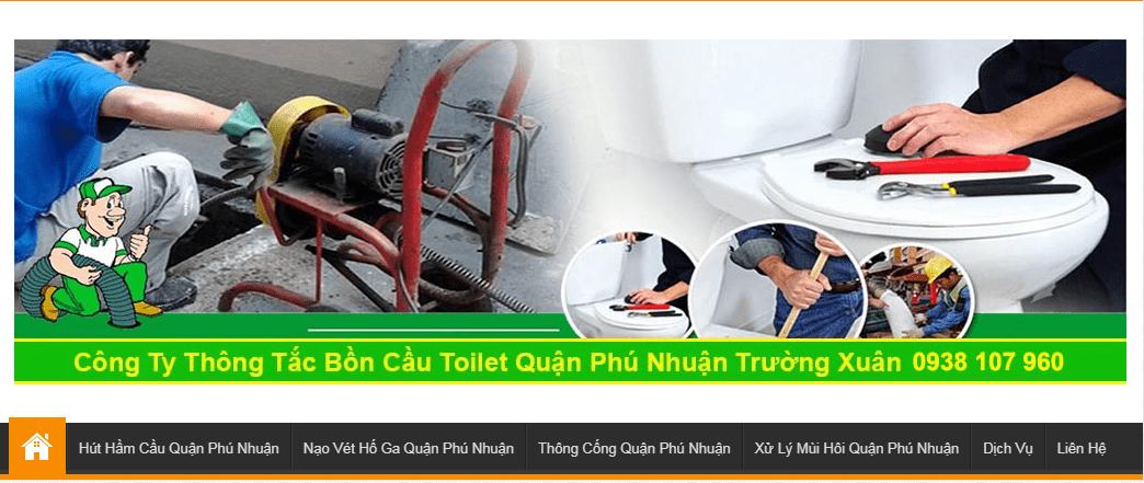 thông bồn cầu quận Phú Nhuận