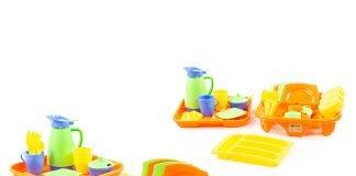 Bộ đồ chơi nấu ăn bát đĩa và khay