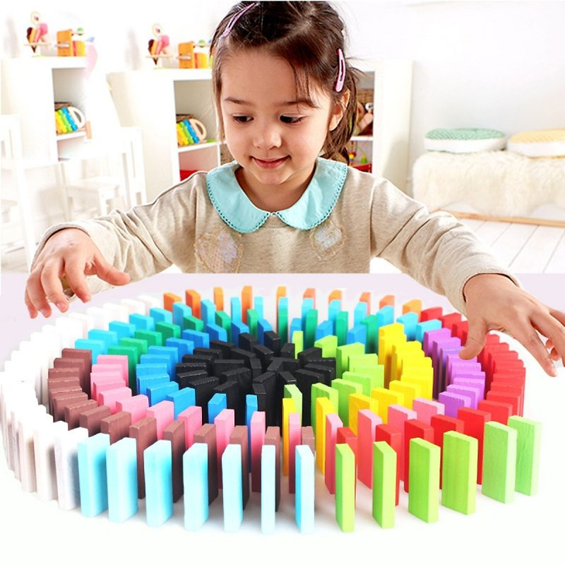 Đồ Chơi Domino 120 Thanh Gỗ Nhiều Màu Sắc