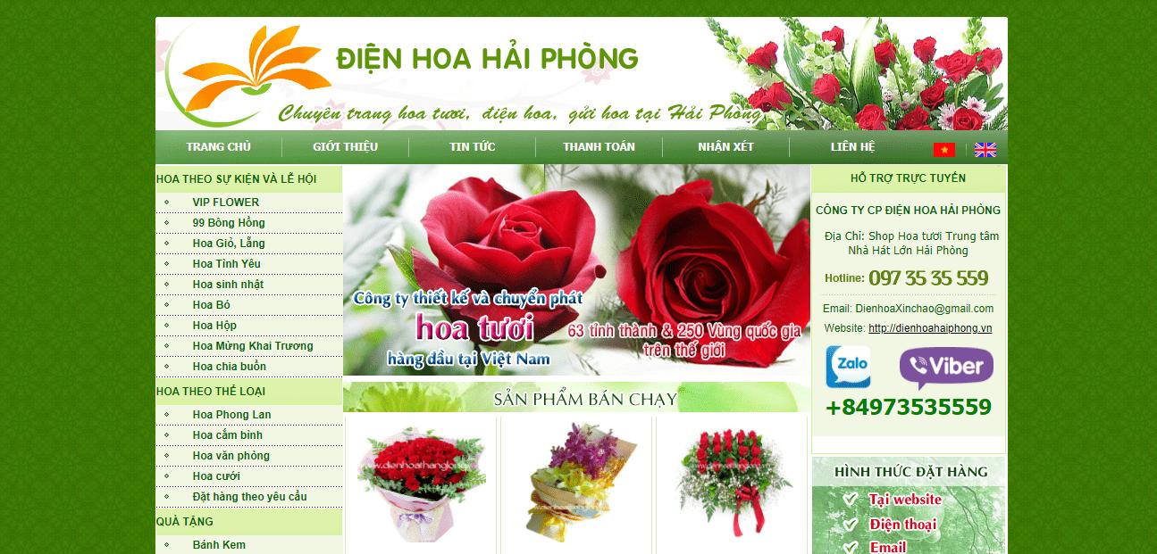 địa chỉ điện hoa uy tín Hải Phòng